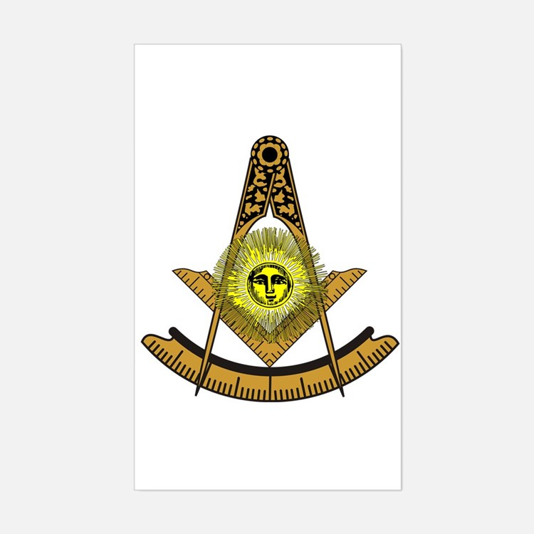 Past Master Design 5 Rectangle Decal