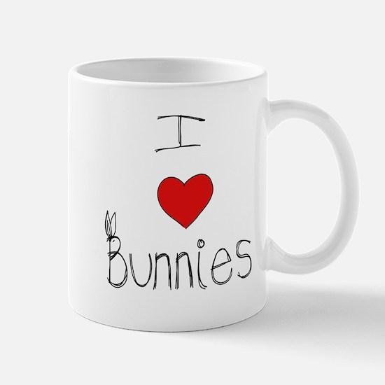 I Heart Bunnies Mug