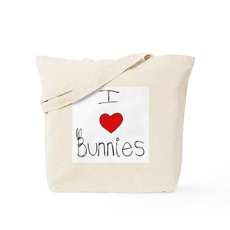 I Heart Bunnies Tote Bag