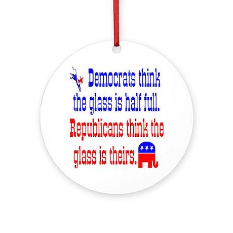 Democrats Vs. Republicans Ornament (Round)