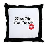 Kiss Me, I'm Dutch Throw Pillow