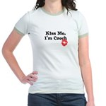 Kiss Me, I'm Czech Jr. Ringer T-Shirt