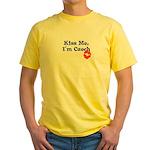 Kiss Me, I'm Czech Yellow T-Shirt