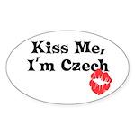 Kiss Me, I'm Czech Oval Sticker