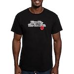 Kiss Me, I'm Croatian Men's Fitted T-Shirt (dark)
