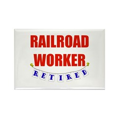 Retired Railroad Worker Rectangle Magnet