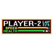 Player 2 Highway Racer Bumper Bumper Sticker