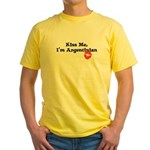 Kiss Me, I'm Argentinian Yellow T-Shirt