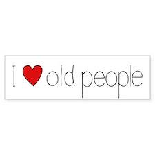 I Heart Old People Bumper Bumper Sticker