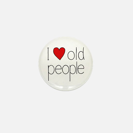 I Heart Old People Mini Button
