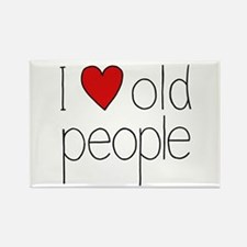 I Heart Old People Rectangle Magnet
