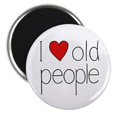 I Heart Old People Magnet