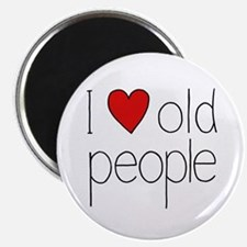 I Heart Old People Magnet
