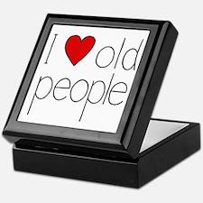I Heart Old People Keepsake Box