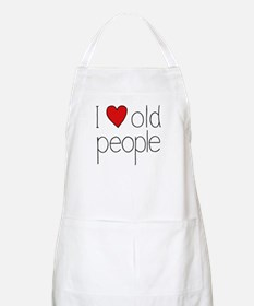 I Heart Old People BBQ Apron