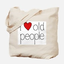 I Heart Old People Tote Bag