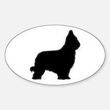 Briard Oval Bumper Stickers