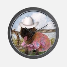 Cowgirl Cairn Terrier Wall Clock