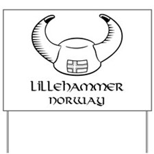 Lillehammer Norway Yard Sign