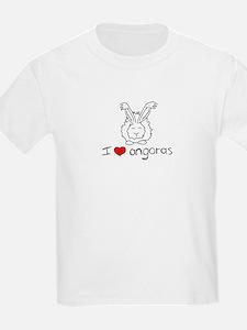 I Heart Angora Rabbits Kids T-Shirt