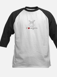 I Heart Angora Rabbits Kids Baseball Jersey