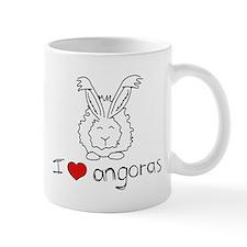 I Heart Angora Rabbits Small Mug