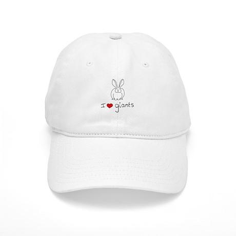 I Heart Giant Rabbits Cap