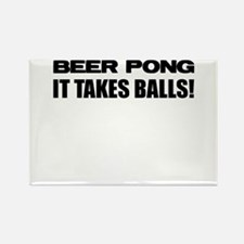 Cute Beerpong Rectangle Magnet