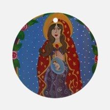 Immaculate Virgin Ornament (Round)