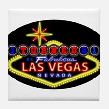 Cute 21st birthday in vegas Tile Coaster
