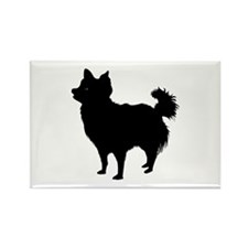 Chihuahua Longhair Rectangle Magnet