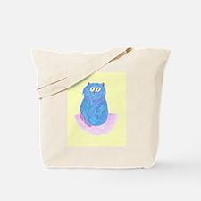 Blueberry Kitten on Lemon Tote Bag