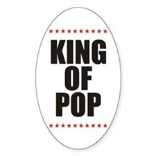 KING OF POP STARS Oval Decal
