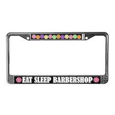 Eat Sleep Barbershop License Plate Frame