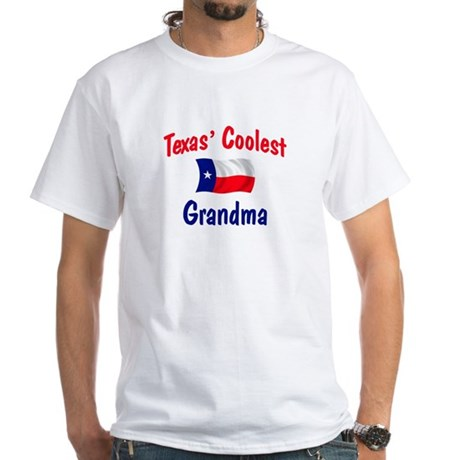 Coolest Texas Grandma White T-Shirt