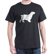 Clumber Spaniel Black T-Shirt