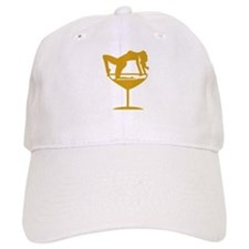 Sexy Cocktail Girl Baseball Cap