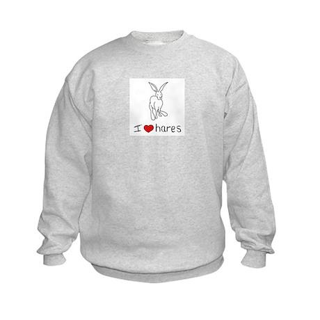 I Heart Hares Kids Sweatshirt