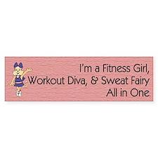 Workout Diva Bumper Sticker