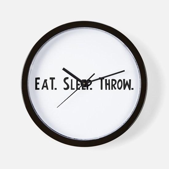 Eat, Sleep, Throw Wall Clock