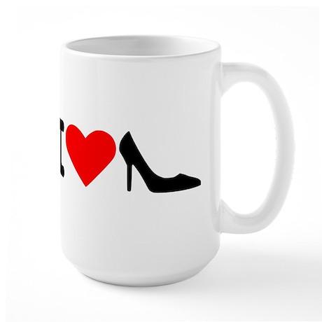 I love shoes Large Mug