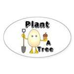 Arbor Day Oval Sticker (10 pk)