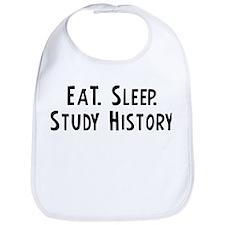 Eat, Sleep, Study History Bib
