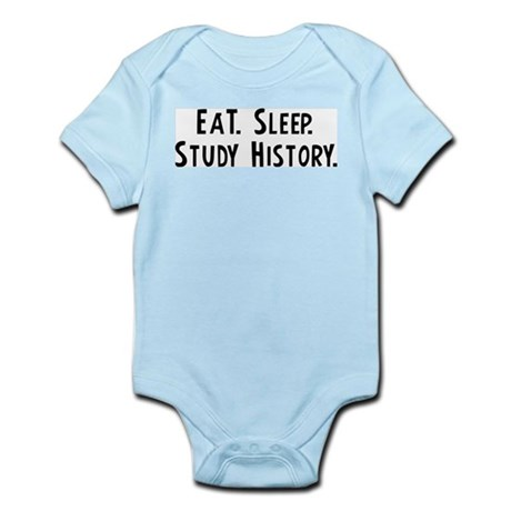 Eat, Sleep, Study History Infant Creeper