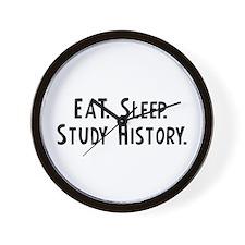 Eat, Sleep, Study History Wall Clock