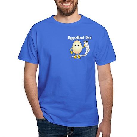 Eggcellent Dad Pocket Image Dark T-Shirt