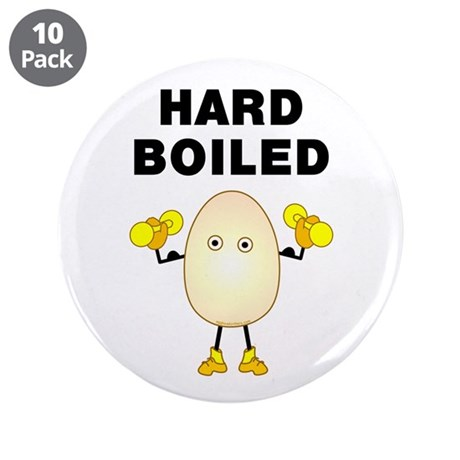 """Hard Boiled 3.5"""" Button (10 pack)"""