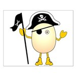 Pirate Egghead Small Poster