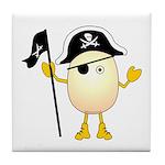 Pirate Egghead Tile Coaster