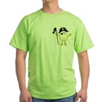 Pirate Egghead Pocket Image Green T-Shirt